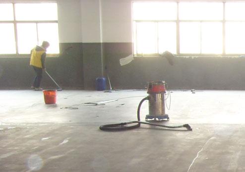 地坪施工前的清扫整理工作